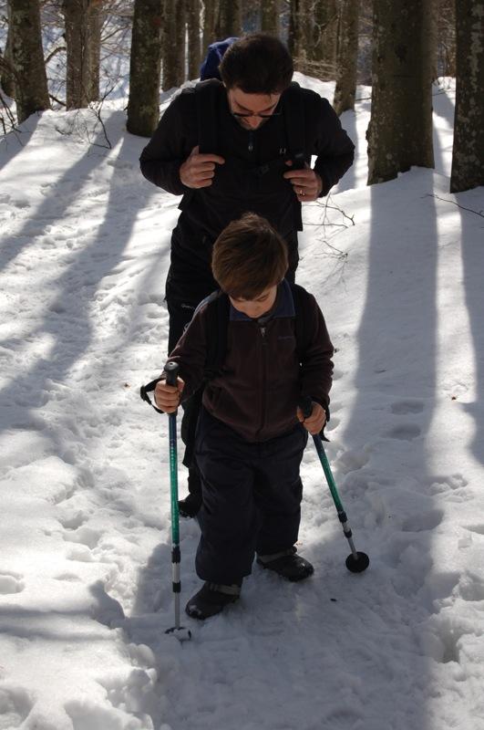 camminando nella neve